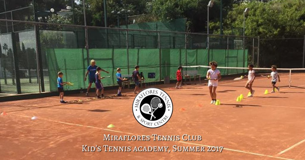 Children's Tennis Games at Miraflores Tennis Club, Mijas Costa, Costa del Sol