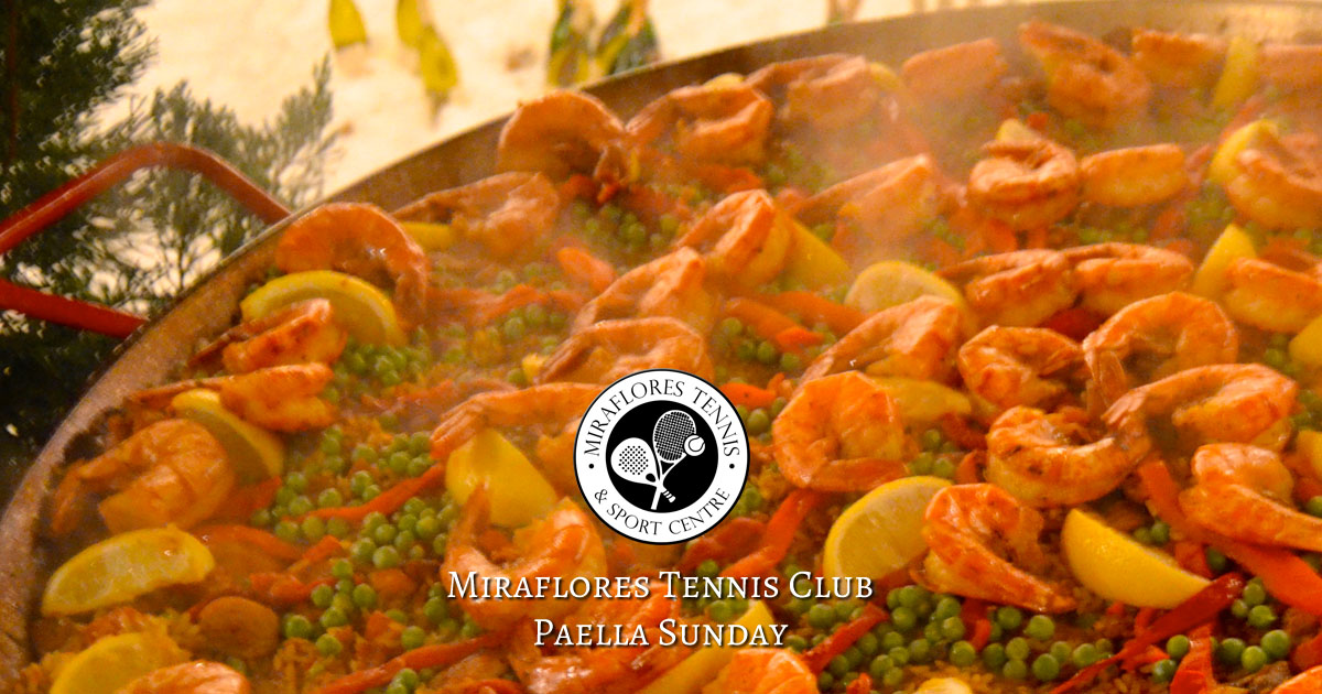 Paella Sunday at Miraflores Tennis Club, Mijas Costa, Spain