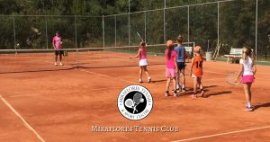 Childrens Tennis Games at Miraflores Tennis Club, Mijas Costa, Costa del Sol