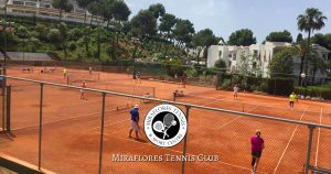 Four Clay Tennis Courts at Miraflores Tennis Club, Mijas Costa, Malaga, Spain