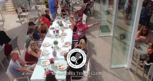 Lively Bar and Restaurant at Miraflores Tennis Club, Mijas Costa, Costa del Sol