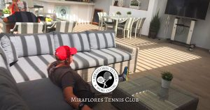 Relaxing after a Game at Miraflores Tennis Club, Mijas Costa, Malaga, Spain